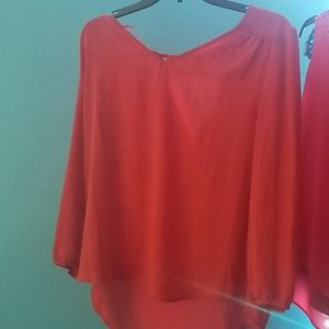 Burnt orange formal blouse
